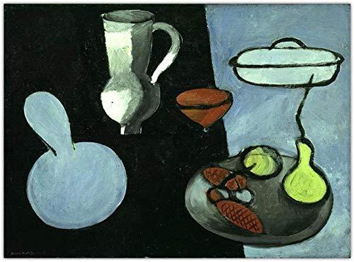 Francés Henri Matisse Arte de la pared Comida Vajilla Restaurante Decoración Fauvismo Pinturas Imagen Decoración de la pared del hogar Impresión Cartel retro Lienzo 40x60cm Sin marco