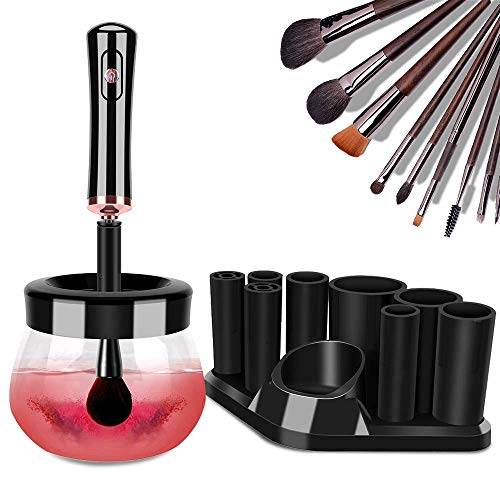 Makeup Brush Cleaner Dryer, Neeyer Super-Fast Electric Brush Cleaner Machine Automatic Brush Cleaner Spinner Makeup Brush Tools