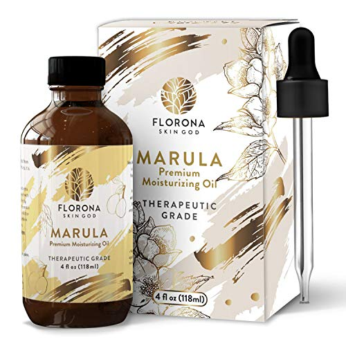 Florona Naturals Marula Facial Oil, 4oz - Cold-Pressed, Refined Luxury Beauty Serum For Face And Hair - Aceite De Marula Para El Cabello (Marula, 4 Oz)