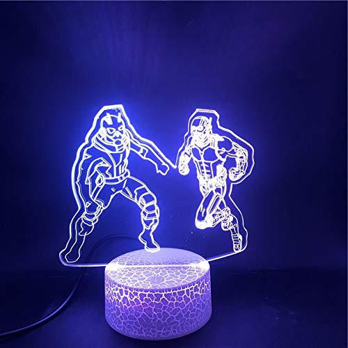3D Table Lamp Superhero Heroes Ant-Man and The Wasp Bluetooth Speaker Base Best Present Teenager Atmosphere USB Table Lamp