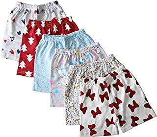 Rockers Boy's and Girl's Cotton Printed Shorts and Half Pants (Multicolour, 7-8 Years) Pack of 6 and 10