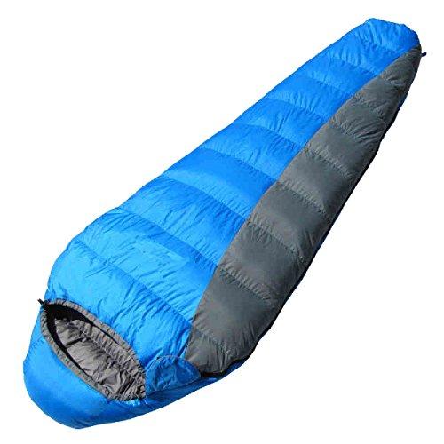Xin.S Tous Les Sacs De Couchage De Momies De Saison Camping Parfait Trekking Voyage De Sac à Dos. Coque Imperméable Résistante à L'eau,Blue-220*80*50cm