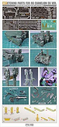Madworks AW9 S17 Detail Up Metal Parts Photo-Etch Upgrade for Evangelion EVA-01 DX Ver. RG 1/144 Model Kit