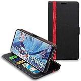 ebestStar - kompatibel mit Oppo Find X2 Neo Hülle Kunstleder Wallet Hülle Handyhülle [PU Leder], Kartenfächern, Standfunktion, Schwarz/Rot [Phone: 159.4 x 72.4 x 7.7 mm, 6.5'']
