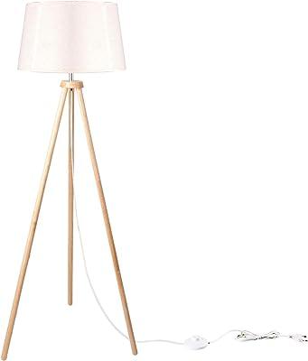 CCLIFE La lampe trépied en bois s'intègre dans l'architecture et la décoration modernes.
