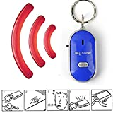 vitihipsy New LED Lamp Key Finder Locator Find Lost Keys Chain Whistle Sound Control Keychain Finder