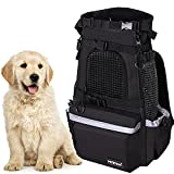 Myston Pet Carrier Backpack,Great for Small Size Pet Bag, Adjustable Cat and Dog Backpack, Travel Bag, Easy for Hiking Camping Mesh Bag Breathable Pet Backpack(Black - Large)