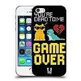 Head Case Designs Game Over Pop Trends Coque en Gel Doux Compatible avec Apple iPhone 5 / iPhone 5s...