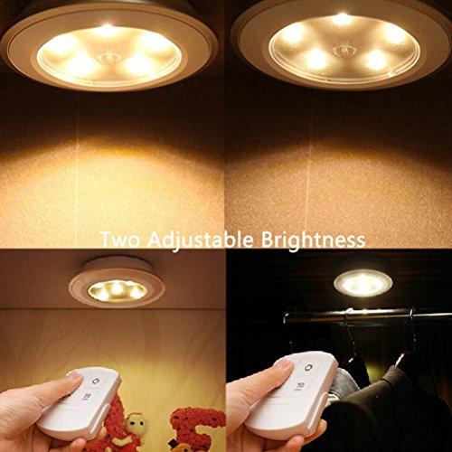 REDGO Cabinet Lights Battery Operated LED Night Light, Stick-Anywhere Closet Lights Stair Lights, Safe Lights for Under Cabinet, Hallway, Bathroom, Bedroom, Kitchen, Storage Room, Attics, Cupboard