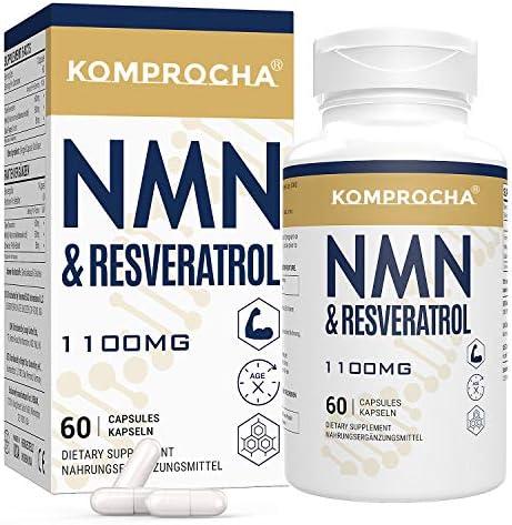 Maximum Absorption Trans Resveratrol 600mg NMN 500mg 60 Vegan Capsules High Antioxidant Support product image