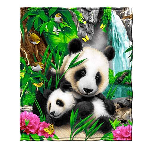 YISUMEI Decke 150x200 cm Kuscheldecken Sanft Flanell Weich Fleecedecke Bettüberwurf Kostbare Pandas