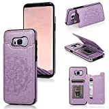 LBYZCASE Samsung Galaxy S8 Plus Wallet Case,Galaxy S8 Plus Phone Case,Shockproof Protective Slim Leather Case Cover with Card Slot Holder for Samsung Galaxy S8 Plus(Purple)