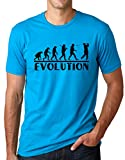 Golf Evolution Funny T-Shirt Golfer Humor Tee Turquoise S