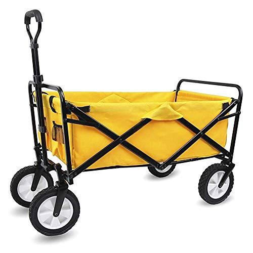Carrito de jardín Carrito plegable Carrito de festival de alta resistencia Carrito de transporte Camión de tracción Carrito de transporte plegable con ruedas de freno, 60 kg / 132 libras de capacidad,