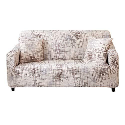 HOTNIU Cepillado Fundas de Sofá Impreso Reversible Funda para Sofá 1 Pieza Elástica Sofá Pantalla para Muebles (Cuatro Plazas, Patron #YMSG)