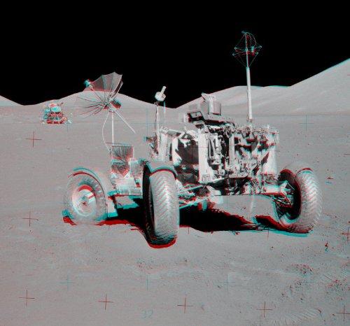 NASApete Mondfahrzeug 3D, 1972, Apollo 17, Fototapete, Bildtapete, XXXL-Poster, 6 Bahnen, 279x260cm