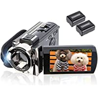 Kicteck 604s Full HD 1080p Camcorder with 16x Optical Zoom and 3 Inch LCD