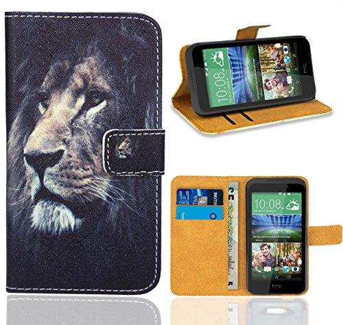 FoneExpert® HTC Desire 320 Handy Tasche, Wallet Hülle Flip Cover Hüllen Etui Ledertasche Lederhülle Premium Schutzhülle für HTC Desire 320