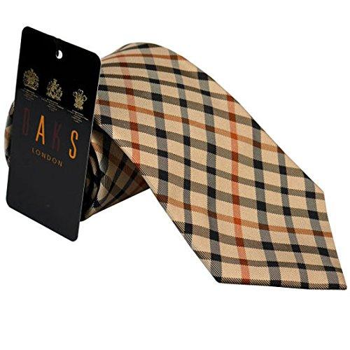 (ダックス) DAKS ネクタイ daks1001 ライトブラウン系 チェック柄 約8cm ブランド