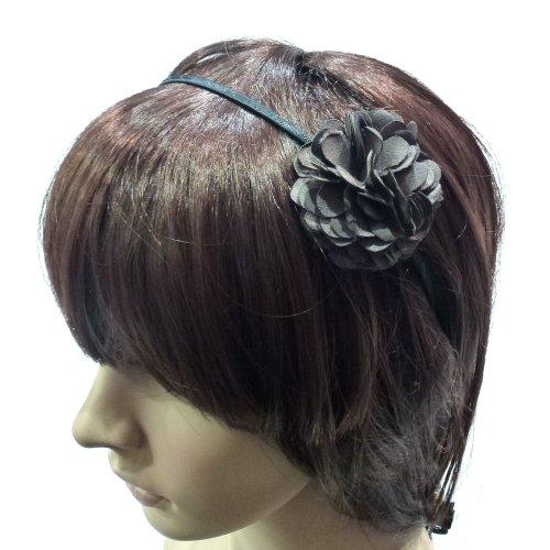 rougecaramel - Serre tête/headband fleur - gris