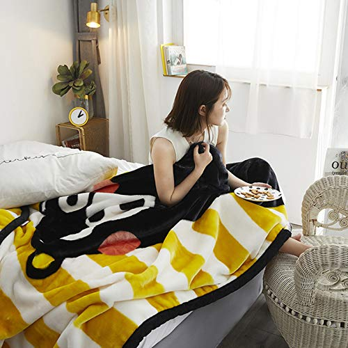 BSWL Double Thick Blankets in Autumn And Winter, Heat Up Quickly, Nap Blankets, Air-Conditioning Blankets, Sofa Blankets (150 * 200 Cm),9