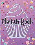 Sketch Book: Kawaii Cute Cupcake Design Large 8.5x11 Sketchbook for...