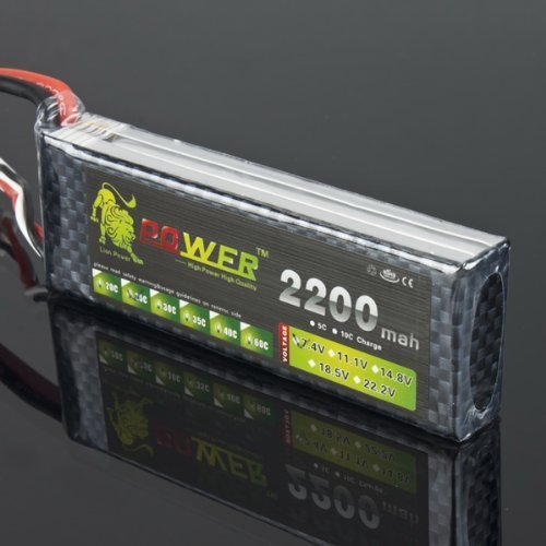 Lion Power 7.4V 2200mAh 25C LiPo Battery BT689 For MJX F45 by IRISMARU