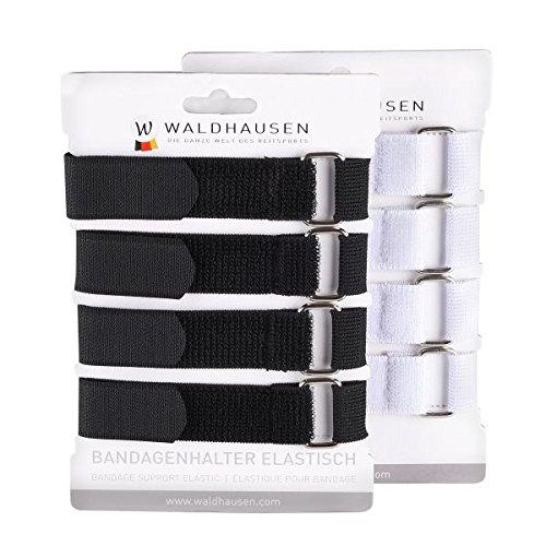 WALDHAUSEN Bandagenhalter auf Karte, 4er Set, schwarz, schwarz