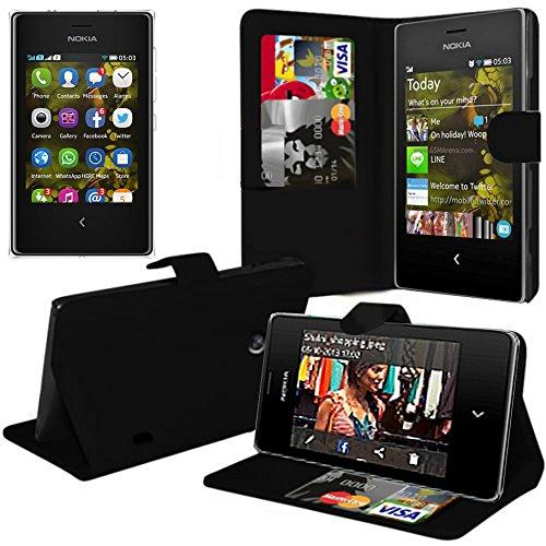 Custodia cover custodia supporto Video Libro Portafoglio pelle PU per Nokia Asha 503