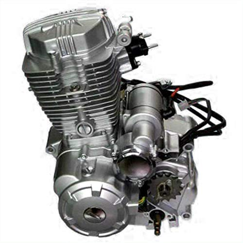 200cc/250cc ATV Engine 4-Stroke Motor Single cylinder with Air-Cooled Vertical Engine w/Manual Transmission Reverse Aluminum Alloy CDI 10.0KW/8500Rpm 14.5N.m/7000Rpm