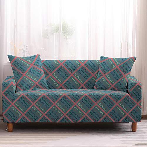 Cuscino per divano quattro stagioni cuscino serie griglia generale cuscino semplice griglia copridivano all-inclusive copertura totale universale antiscivolo (X)