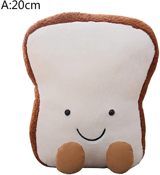 Innovative Toast Bread Plush Toy Cute Toast Bread Plush Pillow Comfort Soft Fun Sliced Bread Toy Gift For Children Kids Boys Girls
