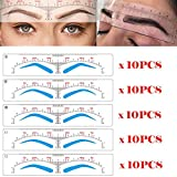 CHOOSE-IT Eyebrow Stencils Microblading Ruler Sticker 5 Different...