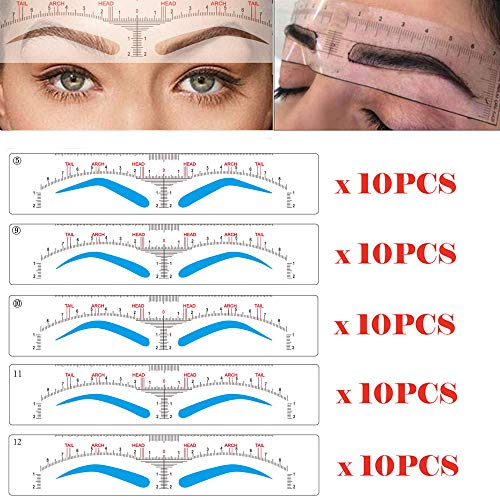 CHOOSE-IT Brow Stamp Tool Eyebrow Stencils Microblading Ruler Sticker...