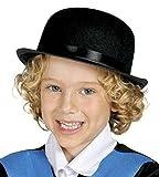 Guirca - Sombrero bombín de fieltro, para niños, color negro (13499)