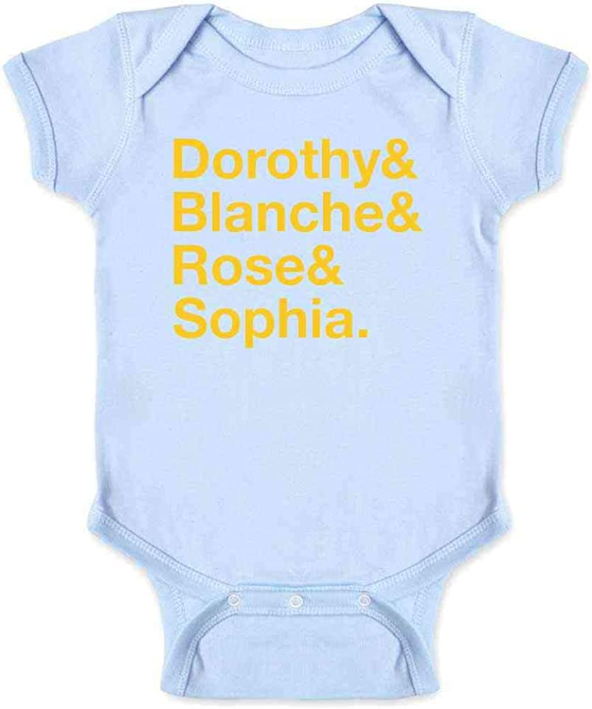 Miami Dorothy Baby Gift Blanche Baby Shower Retro Sofia 80s Rose Golden Girls Classic Short Sleeve Bodysuit Stay Golden