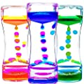 Calming Sensory Toys for Kids with Autism ADHD Anxiety or Special Needs-3 Pack Liquid Motion Bubbler Timers (Style #1)