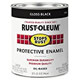 Rust-Oleum 7779502 Stops Rust Brush On Paint, 32 Fl Oz (Pack of 1), Gloss Black