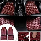 Maibuli Alfombras para Mercedes Benz SL SLC SLK AMG GT Alfombrillas de Coche Alfombra del Piso Auto Impermeable Antideslizante Moquetas 4 Piezas Vino Rojo