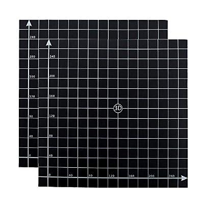 Furiga 3D Printer Build Surface 300x300 mm for CR10 CR10S Anet E12 Build Plate Platform Accessories 2PCS