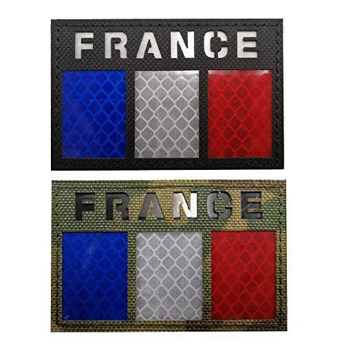 Aufnäher mit reflektierender Flagge in Frankreich, Militär, taktischer Moral-Aufnäher, Frankreich-Abzeichen, Emblem, Aufnäher zum Aufbügeln auf Kleidung, Rucksack, Zubehör mit Klettverschluss