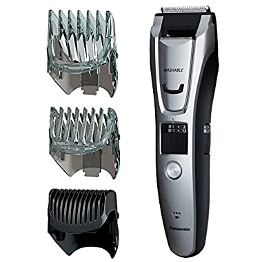 Panasonic ER-GB80-S Body and Beard Trimmer, Hair Clipper, Men's, Cordless/Corded Operation with 3 Comb Attachments and 39 Adjustable Trim Settings, Washable