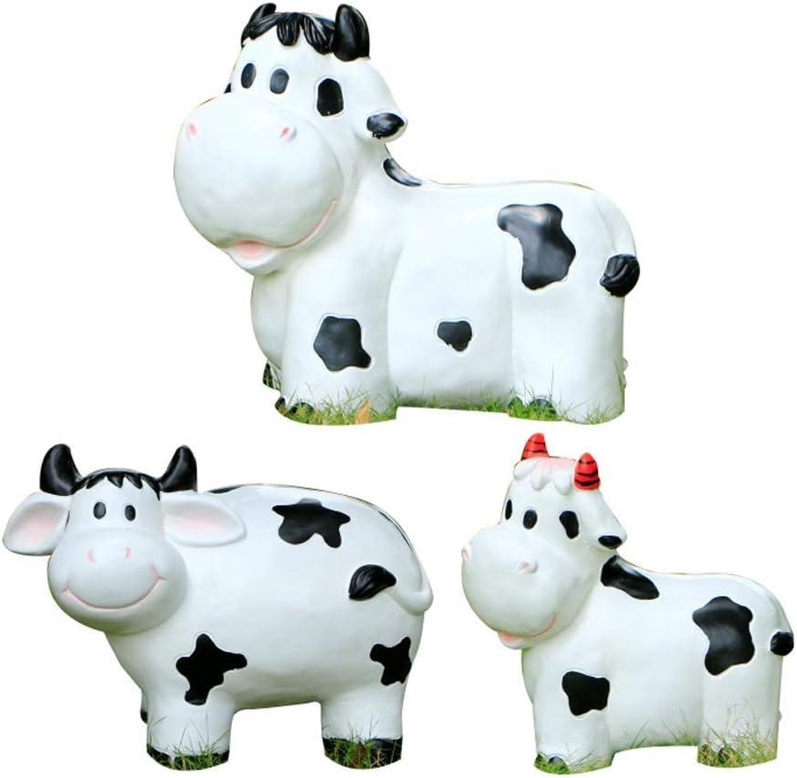 Leo2020 Max 72% OFF Simulation Animal Cow Statue Creative Outdoor Garden Co Max 88% OFF