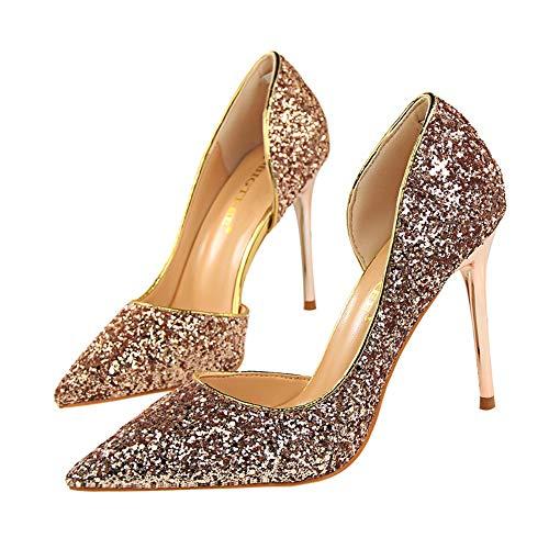 Wildfire Vine Mujer Zapatos De Tacón Moda Sexy Brillante Mujer Sandalias Fiesta High Heels De Tacón Alto Sandalias De Tacón Zapatos 9.5cm