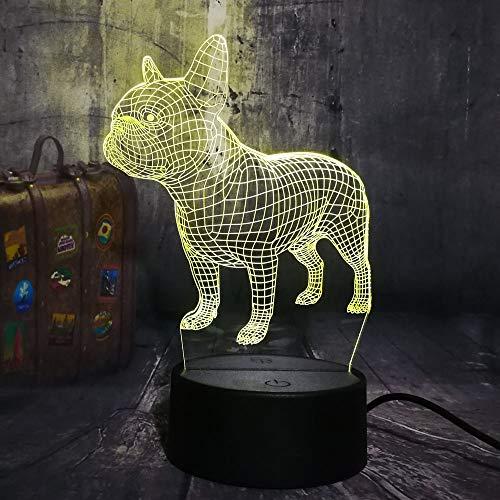 Fantasy perro 3D luz de noche cargador USB decoración del hogar café fiesta juguete cumpleaños Navidad niños regalo
