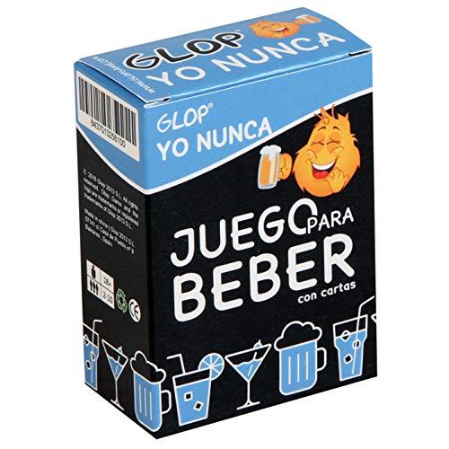 Glop Yo Nunca - Juego para Beber - Juego para Fiestas - Juegos de Mesa - 100 Cartas