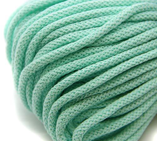 NTS Nähtechnik 50m Baumwollkordel mit Kern 6mm breit (Aqua)