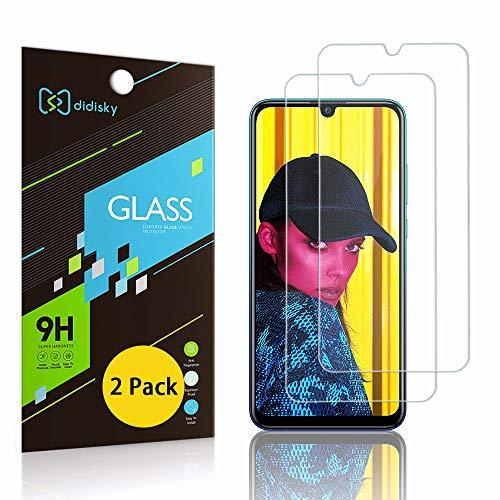 Didisky - Protector de pantalla de cristal templado para Huawei P Smart 2019/2020/Honor 10 Lite/P Smart Plus 2019, [2 unidades] [Touch suave] [Fácil de limpiar] transparente
