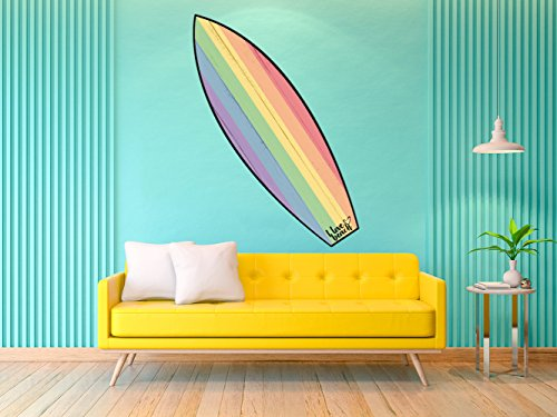 Oedim Tabla de Surf Bandera Orgullo | 100x30cm | Fabricado en Vinilo Adhesivo Resistente y Económico | Pegatina Adhesiva Decorativa de Diseño Elegante