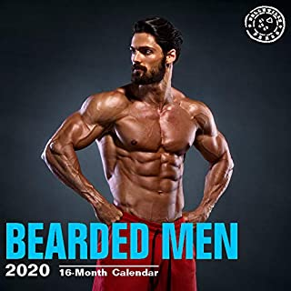 2020 Bearded Men Wall Calendar by Bright Day, 16 Month 12 x 12 Inch, Hot Sexy Pinup Lumberjack Manly